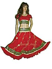 PR Sequin Embroidery Bollywood Dancing Skirt Top Set Belly Dance Costume
