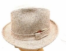 NOS VTG Men's Park Royal Brown or Gray Tweed Fedora Trilby Hat  Rat Pack