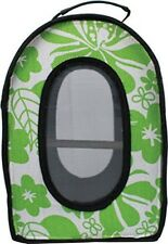 A&E CAGE COMPANY 001375 Green Happy Beaks Soft Sided Bird Travel Carrier, 13.5 x