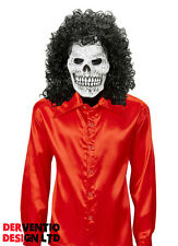 MENS ZOMBIE COSTUME RED 70s 80s DISCO DEVIL HALLOWEEN FANCY DRESS OUTFIT MASK
