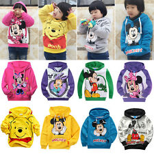Baby Kids Girl Boys Mickey Mouse Casual Costume Tops Hoodie Sweatshirt Pullover