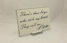 Gift for Mum, Birthday Gift, Son Sign Mothers Day Gift Wooden Plaque 236