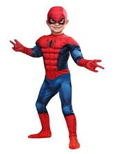 SpiderMan Toddler Muscle Costume Mask Superhero Jumpsuit Red/Blue Halloween New
