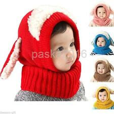 Crochet Knit Hat Cute Dog Toddler Kids Winter Warm Beanie Cap Baby Girls Boys