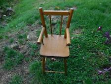 Vintage-Antique All Wood Youth-High Chair -Primitive -Rustic Doll or Bear