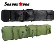 "1.2M/47"" Military Tactical Dual AEG Rifle Carrying Case Gun Bag Backpack Black A"