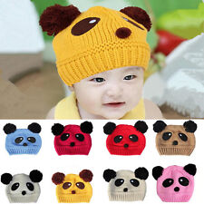 Baby Love Cap Girls Boys 1 pcs Panda Hot Beanie Hat Cute knit Crochet Wool New