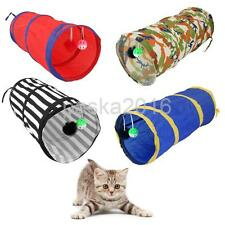 Pet Dog Cat Exercise Funny Tunnel Cave Rabbit Kitten Ferret Play Toys Ball PICK