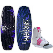 Gator Boards Lux Wakeboard 124 Womens + Liquid Force Alpha Bindings O/S 6-10