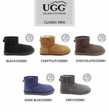 OZLANA Australian Double face Sheepskin Classic Mini  water resistant UGG boot