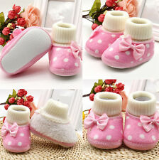 1 Pair Warm Baby Newborn Girl Shoes Soft Sole Boots Infant Charm Toddler Cute