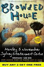 CROWDED HOUSE 2007 Australian  Laminated Tour  Poster