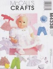 "Pattern McCalls Doll Clothes fit Girl Bitty Baby 2-szs 11-16"" inch"