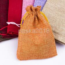 10pcs Drawstring Burlap Bags Party Wedding Favors Gift Bags Jewelry Pouch 9*13cm