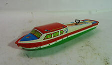 Vintage Ohio Art Pressed Tin Wind-Up Litho Wind Up Toy Boat Yacht # 10154