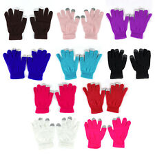 2 Pairs Men/Women Winter Magic Touch Screen Gloves Smart Phone Tablet Texting