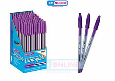 Purple Ink Ultra Glide Smooth Writing Ballpoint Pen 1mm Medium Point Office Home