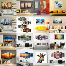 Large 1/3/5/Set Modern Abstract Canvas Painting Art Oil Picture Home Wall Decor