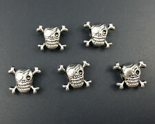 skull beads connector metal beads loose spacer beads for jewelry making 12x15mm