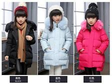 New winter children clothing Girls down Jacket thick fur collar Outerwear Parkas