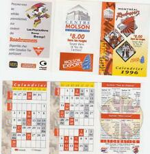1996 Montreal Roadrunners Schedule Mint (A229)