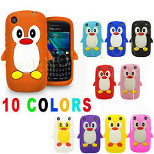 2xCute PENGUIN SOFT GEL SILICONE SKIN CASE COVER FOR BLACKBERRY CURVE 9320 /9220