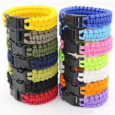 Outdoor Survival Paracord Bracelet 550lb Parachute Cord Wristband Emergency Rope