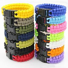 Survival Paracord Bracelet Parachute Cord Camping & Hiking Wristband Bangle Rope