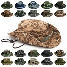 Camo Combat Camouflage Ripstop Military Army Boonie Bush Woodland GI Jungle Hats