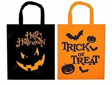 2 x Fabric Treat Bags for Halloween Trick or Treat Bags kids Haloween Party