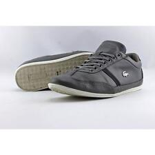 Lacoste Misano 37 Men US 8.5 Gray Sneakers Pre Owned Blemish 2681
