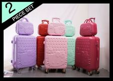 "Luggage Travel Suitcase Hello Kitty Trolley Wheels 20"" 24"" 28"" Case + Carry-on"