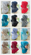 New Fashion Big Flower Hot Drill 2 Piece Amira Hijab Muslim Hijab Islamic Scarf