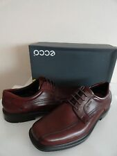 NEW ECCO HELSINKI LACE OXFORD MENS LEATHER SHOES RUST Sz US 12-12.5 / EU 46