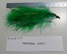Steelhead-Seatrout Tandem Fly Marabou Smelt size 2-4 also length 125mm