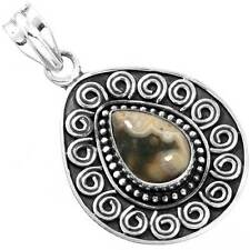 925 Solid Sterling Silver Natural Crazy Lace Agate Unique Pendant cg44895