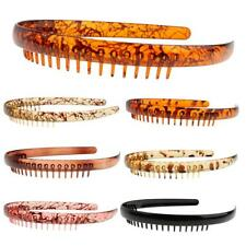 New Resin Headband Comb Tooth Alice Band Unisex Sports Hair Comb Headpieces