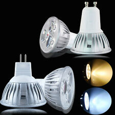 10/4pcs GU10 MR16 LED ✪Bulbs 3W Spotlight Lamps ☆High Power Warm Day White Light