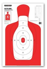 "Thompson Target B27Q-RED | Silhouette Qualification Shooting Targets - 25""x38"""
