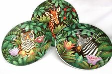 "Sakura Jungle Safari Salad Dessert Plate 8 1/4"" Animal Stoneware #209"