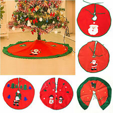 High Santa Claus Snowman Christmas Tree Skirt Stands Ornaments Xmas Party Decor