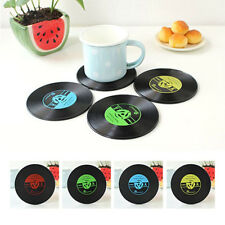Retro Vinyl CD Record Coaster Groovy Cup Drinks Holder Mat Tableware Placemat CN