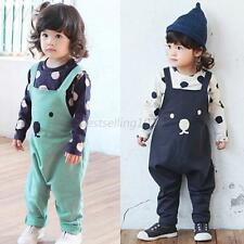 Baby Boys Girls Harem Pants Long Overalls Trouser Bib Pants Romper Suspender UK