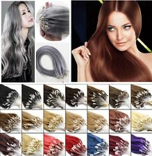 100%Super Real Remy Human Hair Extensions Loop Micro Ring Beads Tipped Link Hair