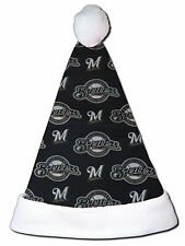 NEW MLB Milwaukee Brewers Christmas Baseball Santa Hat Personalized 18""