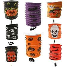 Halloween Scary Fold Paper Lantern Skull Pumpkin Bat Witch DIY Party Decoration