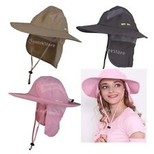 Boonie Fishing Camping Military Wide Brim Neck Cover Bucket UV Sun Flap Hat Cap
