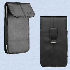 Vertical Premium Leather Belt Clip Case Pouch Universal For CellPhone Smartphone
