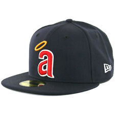 """New Era 59FIFTY CA Angels Cooperstown """"a"""" 1971 Logo Fitted Cap (Dark Navy) Hat"""