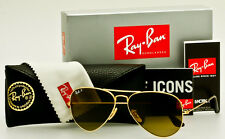 RAY-BAN AVIATOR Gold-Brown Gradient Polarized RB3025 001/M2 58mm *AUTHENTIC*